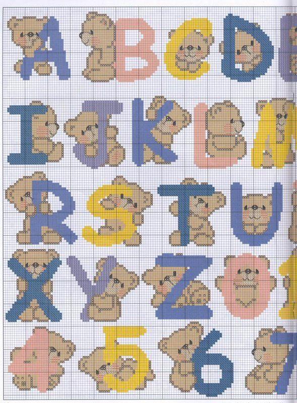 Красивый алфавит для вышивки